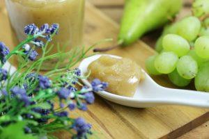 Zuckerfreie Birnen Trauben Marmelade Agar Agar vegan gesund Foodrevers Thermomix