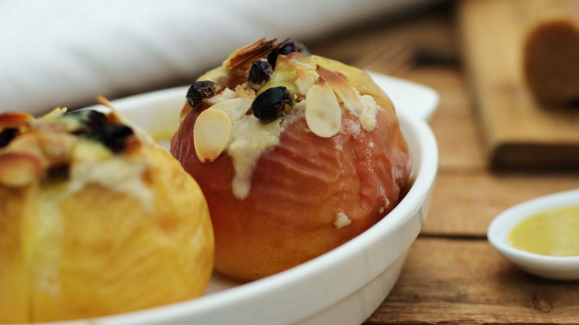 Gesunder Bratapfel zuckerfrei Herbst Foodrevers Clean Eating
