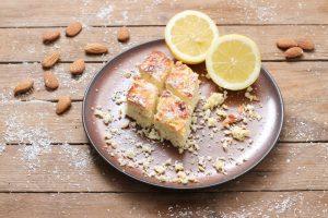 Zitronen Kokos Blondies Foodrevers
