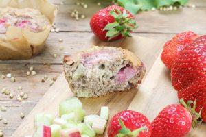 Blog Foodrevers Erdbeer Rhabarber Muffins