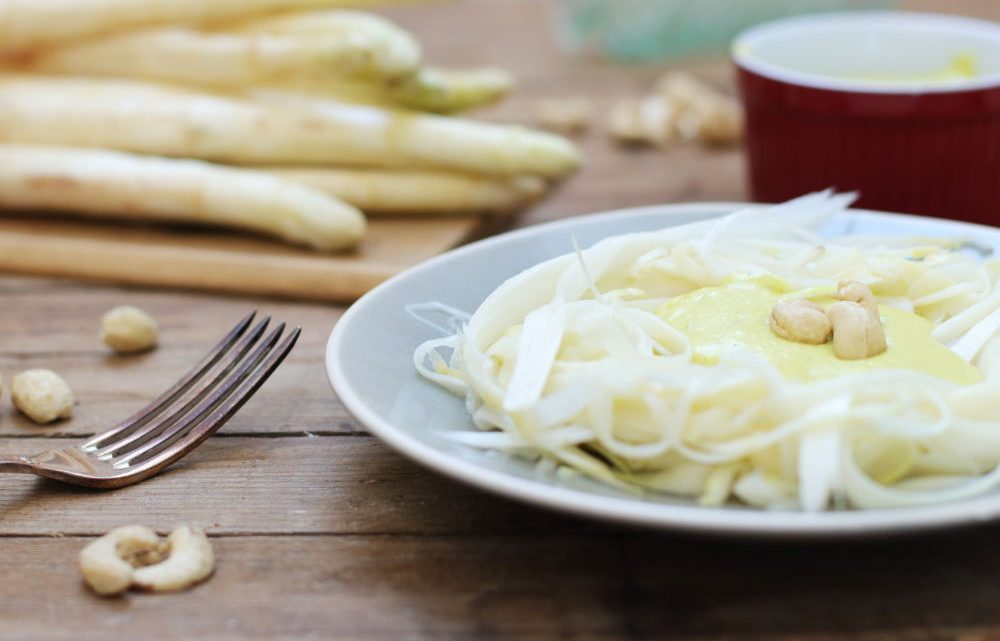 Spargel Spaghetti Foodrevers Clean Eating Rezept mit Thermomix