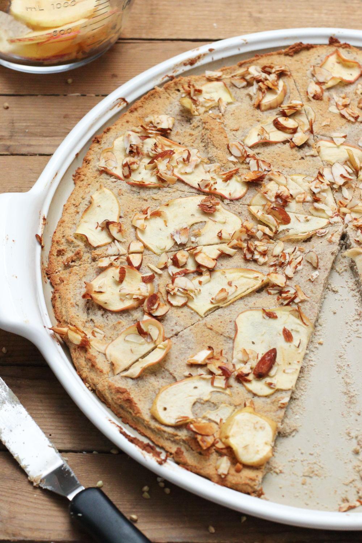 Gesunde Applepie Pizza - Clean Eating Apfelkuchen mal anders