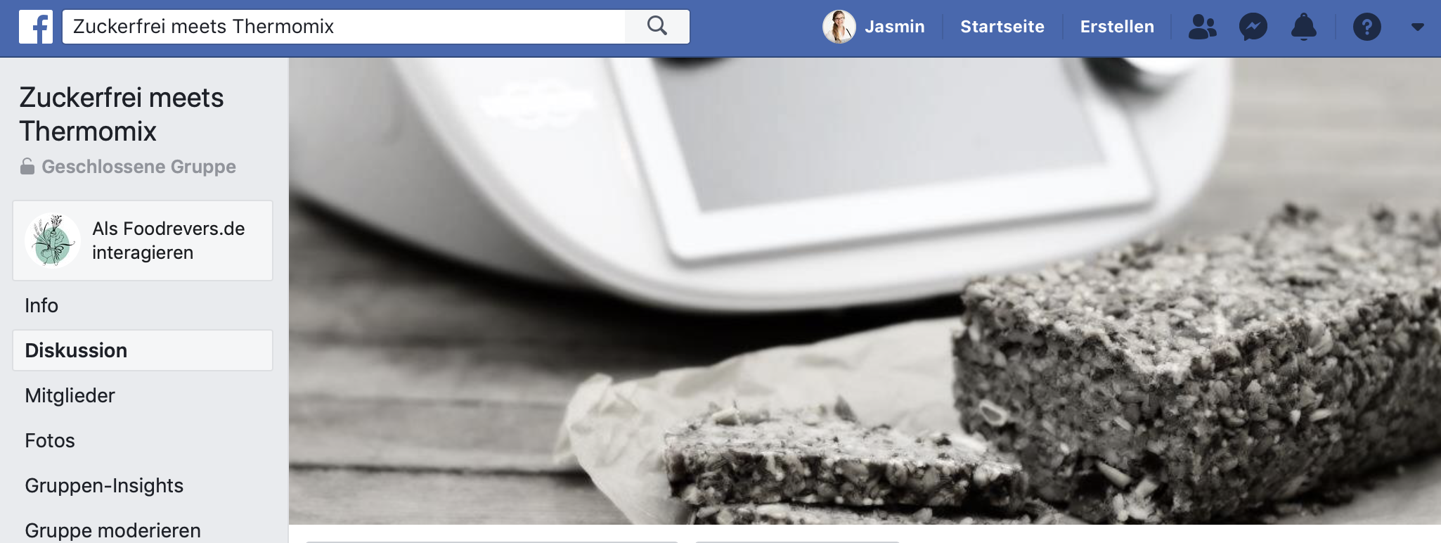 Facebook Gruppe zuckerfrei meets Thermomix Foodrevers Clean Eating