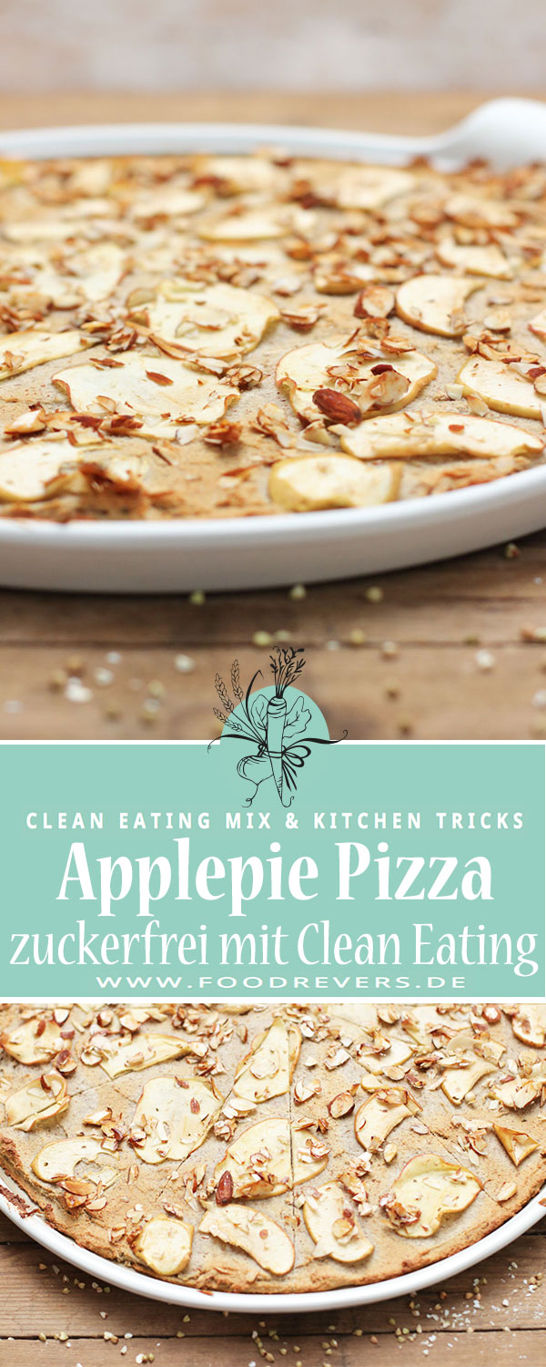 Apple Pie-Pizza Apfelkuchen Foodrevers Clean Eating Pampered Chef