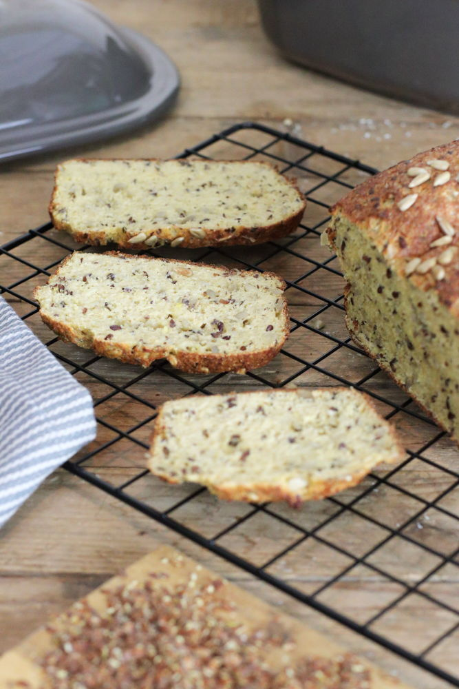 LowCarb Brot glutunfrei mit Pampered Chef und Thermomix Foodrevers Clean Eating