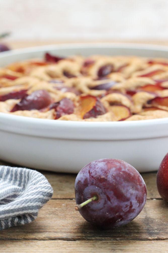 Pflaumenkuchen ohne Zucker Clean Eating Foodrevers Pampered Chef