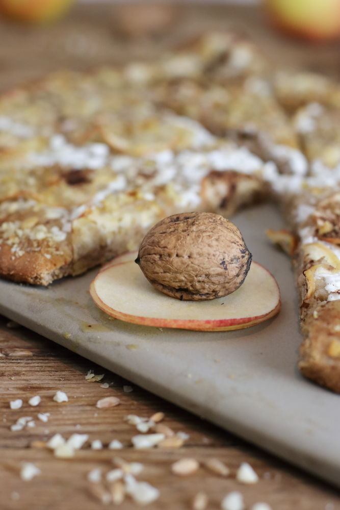 Süßer Flammkuchen ohne Zucker vom Zauberstein Pampered Chef Clean Eating Foodrevers