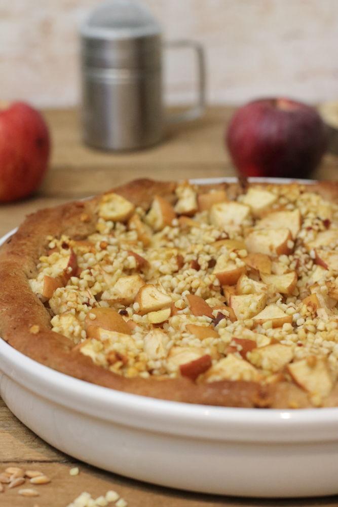 Bratapfelkuchen zuckerfrei Clean Eating Foodrevers Pampered Chef Thermomix