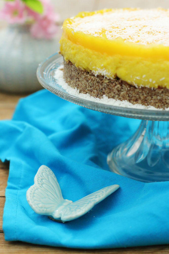 Mango Torte Clean Eating ohne Zucker Foodrevers vegan