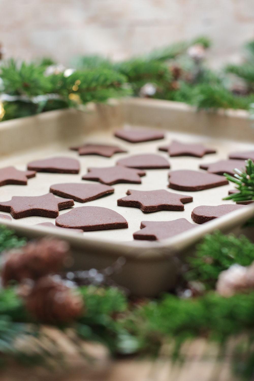 Schoko Weihnachtsplätzchen glutenfrei zuckerfrei Pampered Chef Clean Eating