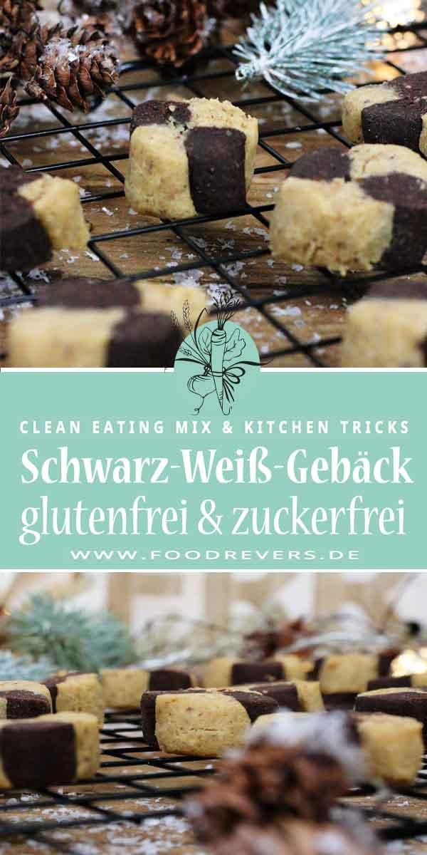 Pinterest-Schwarz-Weiß-Gebäck Foodrevers zuckerfrei gesund Clean Eating