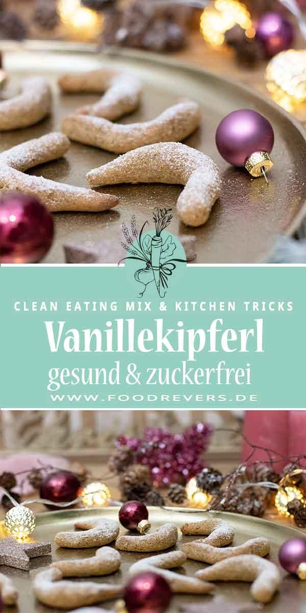 Gesunde Vanillekipferl zuckerfrei glutenfrei Clean Eating
