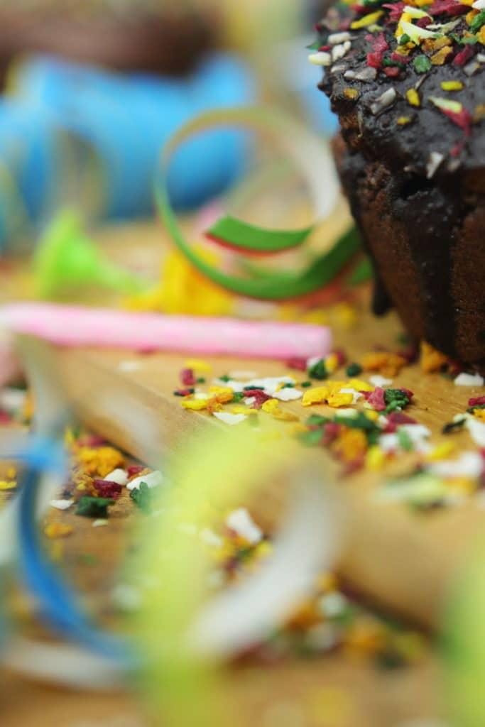 Gesunde bunte Streusel zuckerfrei Clean Eating Foodrevers Schoko Muffins Thermomix Airfryer