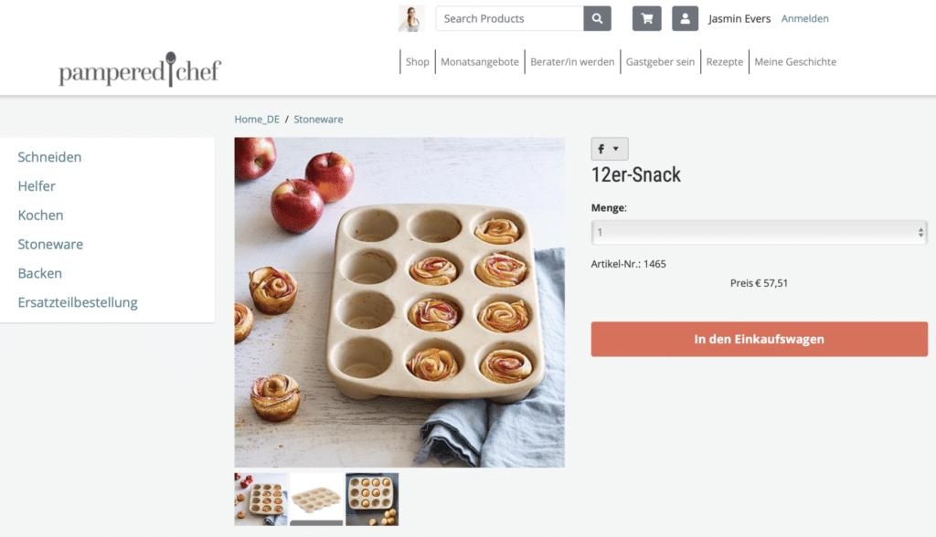 12er Snack Pampered Chef Stoneware kaufen
