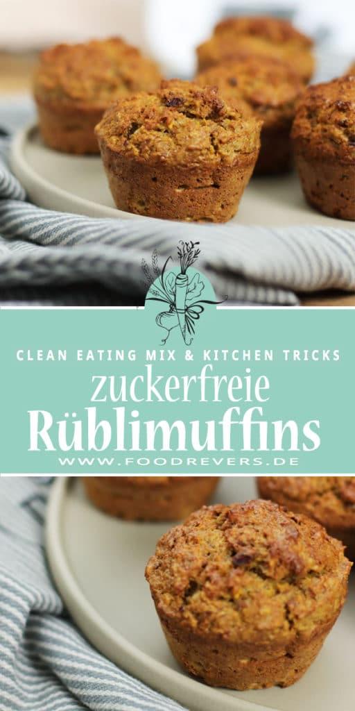 Zuckerfreie Rüblimuffins Foodrevers Clean Eating Thermomix Pampered Chef