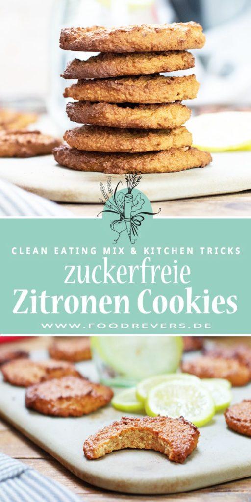 Zuckerfreie Zitronen-Cookies gesund mit Thermomix und Pampered Chef Clean Eating glutenfrei