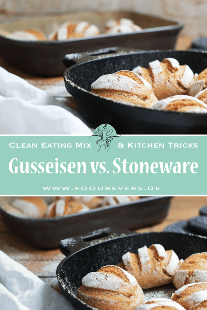 Pinterest Gusseisen vs. Stoneware Foodrevers Clean Eating Pampered Chef