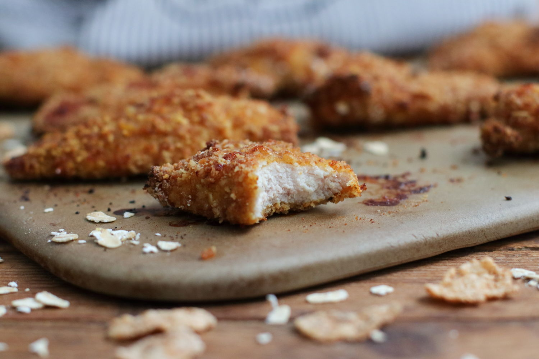 Gesunde Chicken Nuggets Vollkorn Panade Pampered Chef Foodrevers