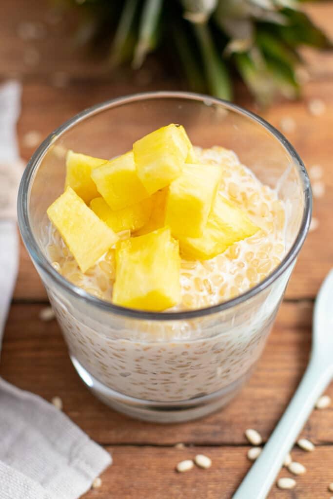 Süßer Mochi Reis zuckerfrei gesund Vollkorn Reis Thermomix Clean Eating